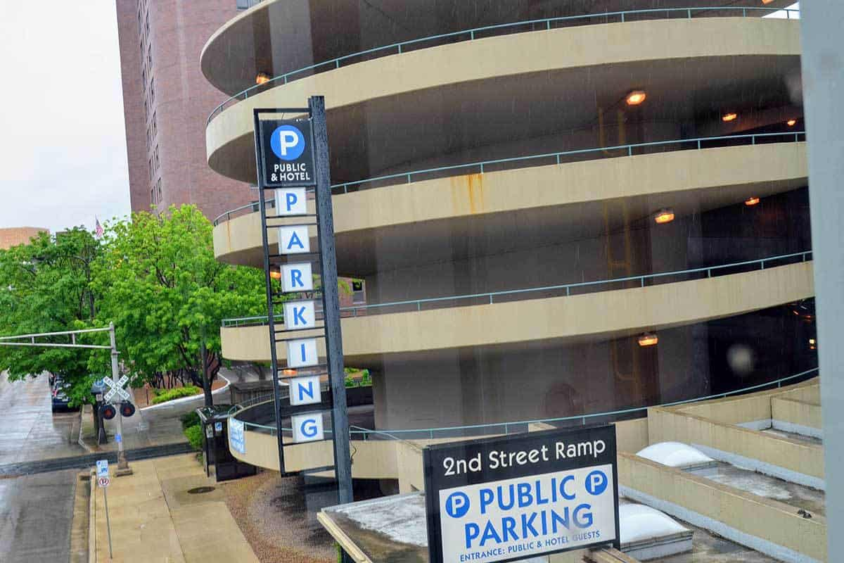 Second Street Parking Ramp Adjacent to 206 South Broadway Building